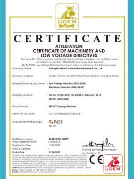 CE sertifikat mesin capping