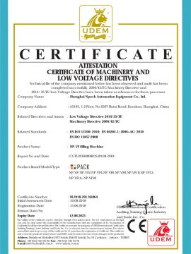 CE sertifikat mesin ngisi