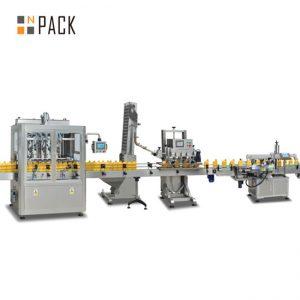 mesin pangisi piston senggol, mesin ngisi saos panas otomatis, baris produksi sambel