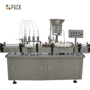 Mesin ngelas botol sulingan kualitas tinggi e-Cairan lan mesin ngisi mesin ngeculake mesin cilik